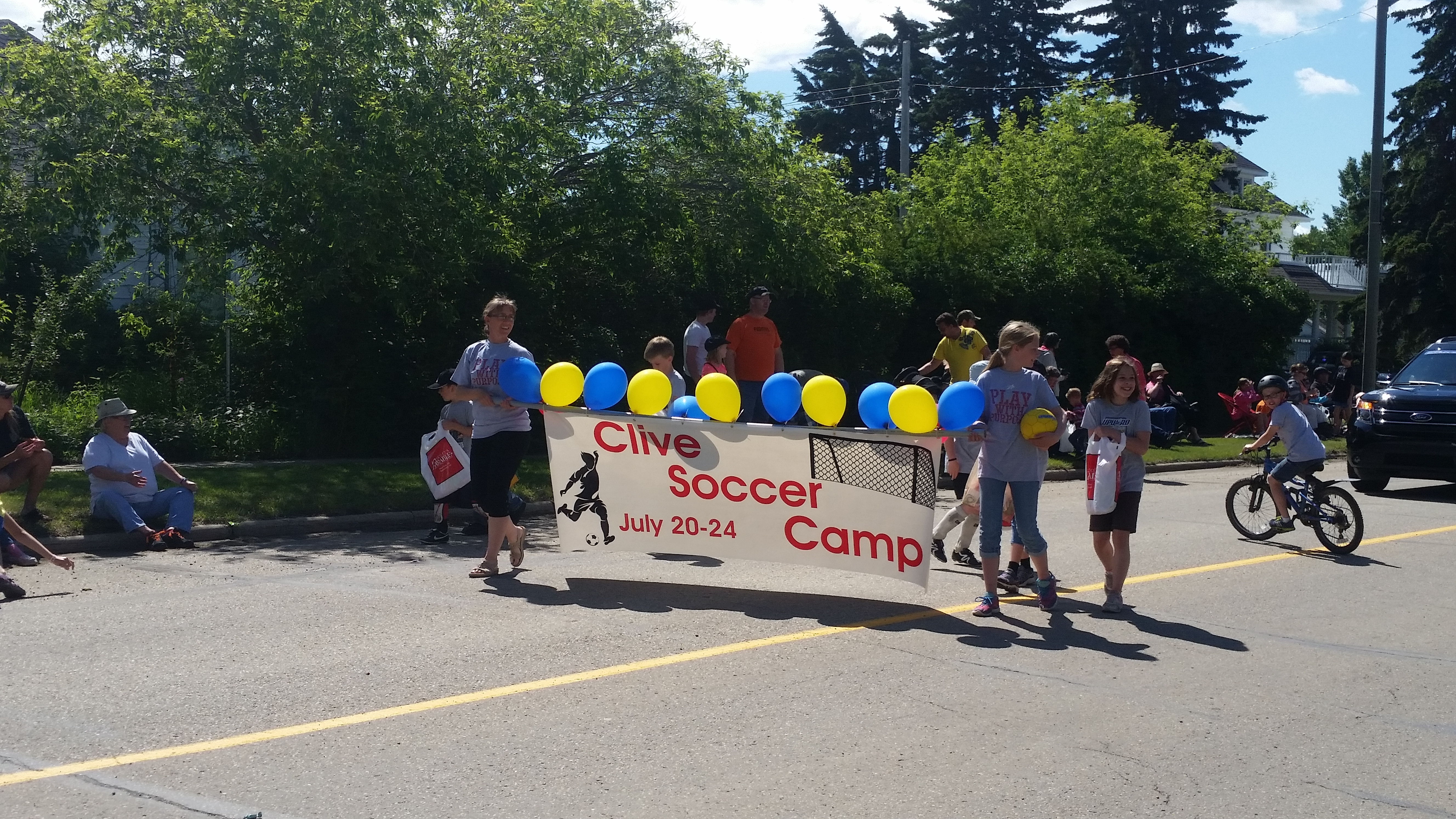 Clive Soccer in parade